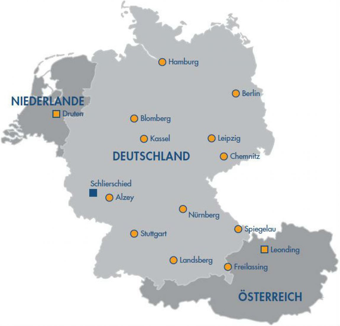 Standorte Swietelsky Faber Kanalsanierung